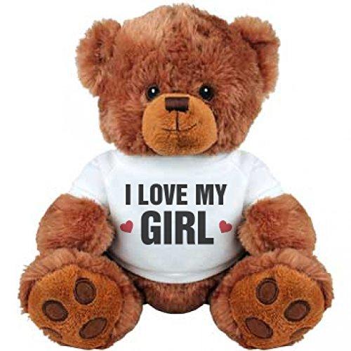 I Love My Girl Cute Anniversary Medium Plush Teddy Bear