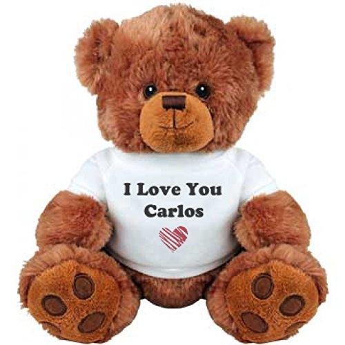 I Love You Carlos Romantic Valentines Gift Medium Plush Teddy Bear