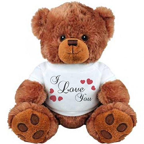 I Love You White Bear Medium Plush Teddy Bear