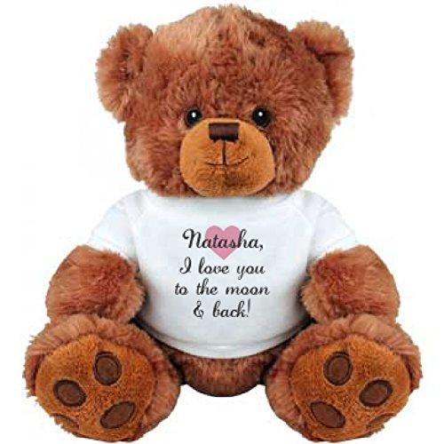 Natasha I Love You To The Moon And Back Medium Plush Teddy Bear