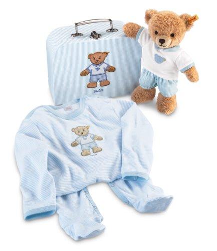 Steiff Sleep Well Bear Gift Set In Suitcase Pink