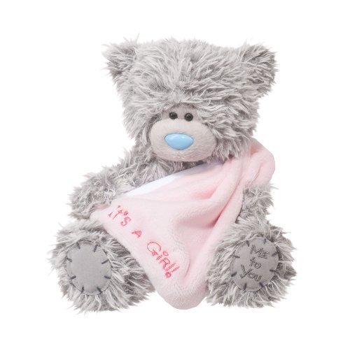 Douglas Cuddle Toys 6 Plush TATTY TEDDY Its A Girl Bear With Blankie