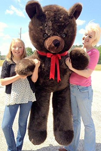 Big Plush American Made 6ft Giant Teddy Bear Brown Luxurious Stuffed Soft