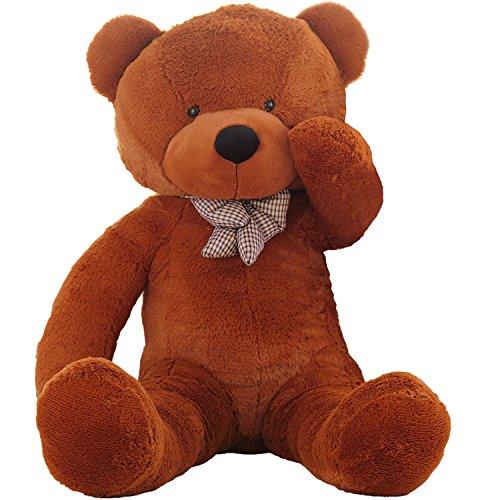 WOWMAX 45 Foot Dark Brown Giant Teddy Bear Cuddly Stuffed Plush Animals Teddy Bear Toy Doll 55