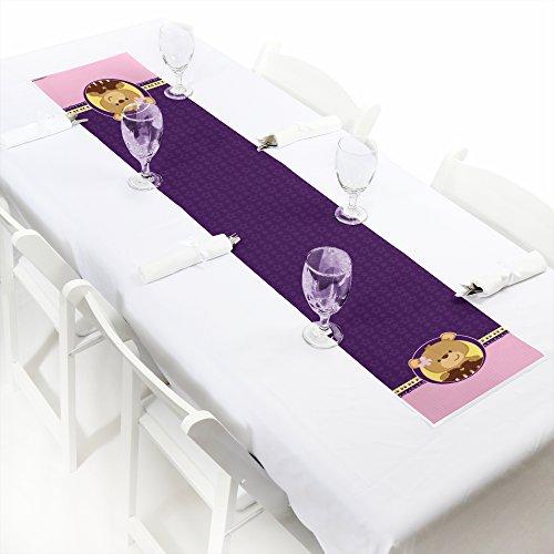 Baby Girl Teddy Bear - Petite Baby Shower Table Runner - 12 x 60