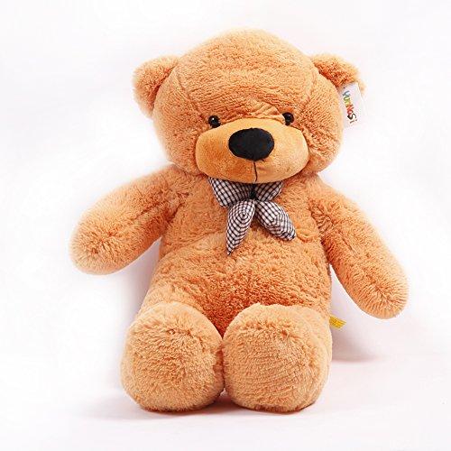 Celoz Giant 47 Cream Color Lovely 120cm Big Fluffy Baby Plush Toy Home Bedding Stuffed Teddy Bear Light brown