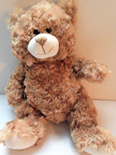 TAN TEDDY BEAR Light Brown Curly Fur Stuffed Animal Toy Medium 14