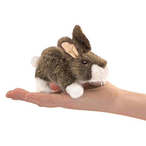 Folkmanis Mini Cottontail Rabbit Finger Puppet One Size Multicolor