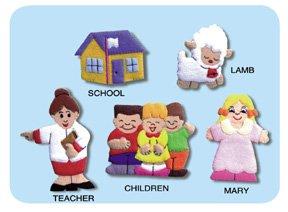 Mary Had a Little Lamb Felt Finger Puppets