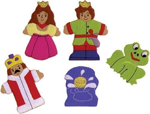 The Frog Prince Felt Finger Puppet Set 5 Finger Puppets