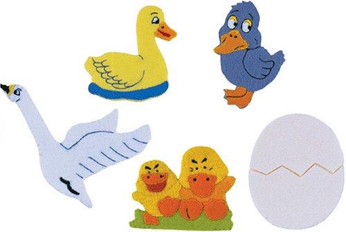 The Ugly Duckling Felt Finger Puppet Set 5 Finger Puppets