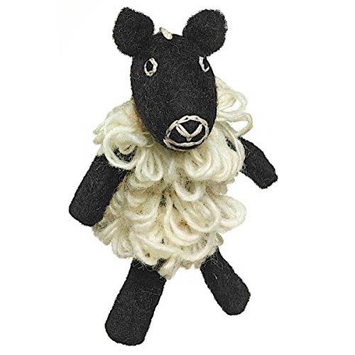 Fair Trade Finger Puppet Sheep - Christmas Tree Ornament Dzi Wild Woolie