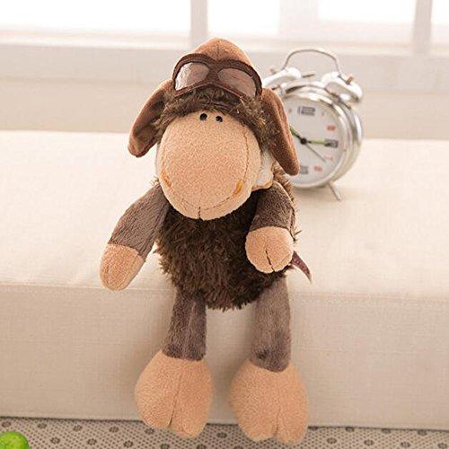 Dongcrystal 157 Plush Pilot Sheep Doll Stuffed Animal Alpaca Toy