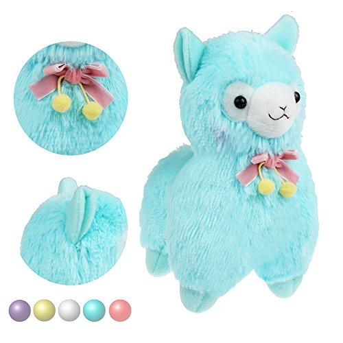 KSB 73 Blue Bowknot Plush Alpaca100 Plush Stuffed Animals Doll ToysBest Birthday Gifts For The Children Kids