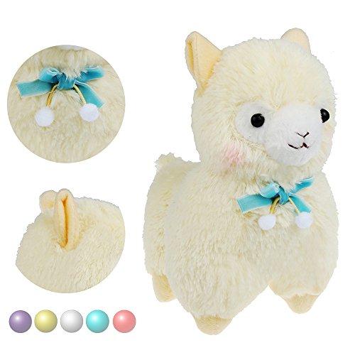 KSB 73 Yellow Bowknot Plush Alpaca100 Plush Stuffed Animals Doll ToysBest Birthday Gifts For The Children Kids