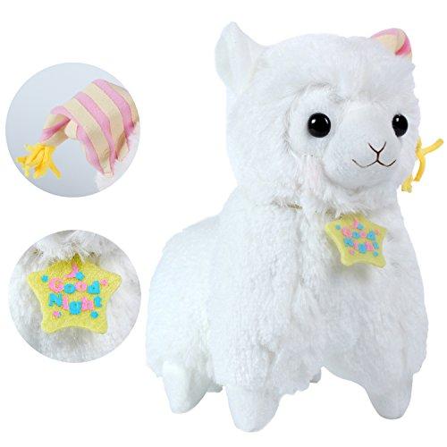 KSB 73 Yellow Good Night Plush Alpaca100 Plush Stuffed Animals Doll ToysBest Birthday Gifts For The Children KidsNightcap