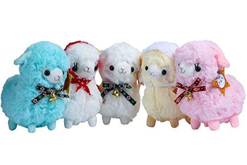 KSB Pack Of 5 6 Plush Alpaca100 Plush Stuffed Animals Doll ToysBest Birthday Gifts For The Children KidsThe Bell Alpaca