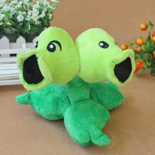 Plants Vs Zombies Plush Toy PVZ Split Pea Soft Doll by Angeller Marquer