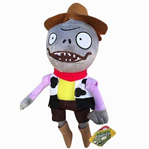 Toyswill Plants vs Zombies 2 Cowboy Dwarf Zombie Plush Doll
