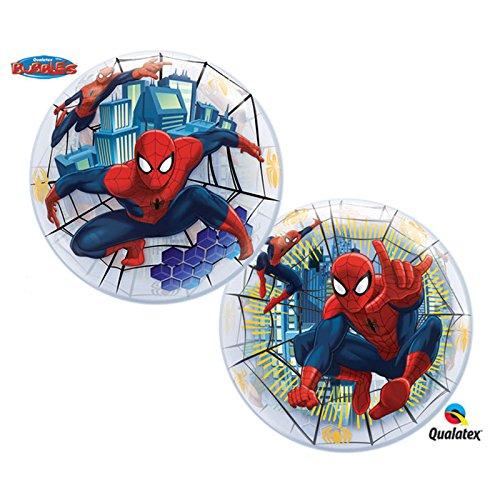 22 Ultimate Spiderman Bubble Balloon Plastic 1 per package