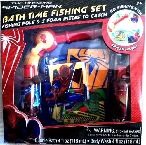 The Amazing Spiderman Bubble Bath Time Fishing Set