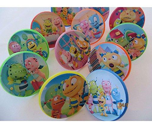 12 Henry Hugglemonster Rings cupcake toppers - birthday party favor pinata