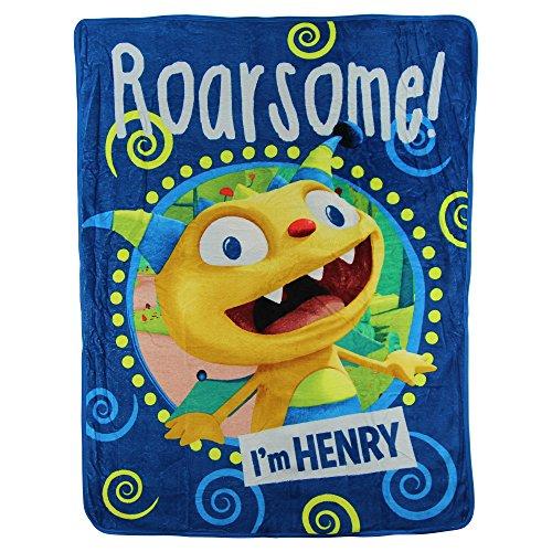 Kids Super Plush Sherpa Throw Blanket 46x50-Inch Henry Hugglemonster
