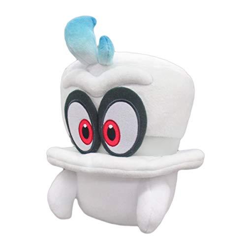 FUNFAVORITES Super Mario Odysssey White Cappy Kids Gift Mario Bowser Koopa Plush