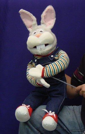 Farmer Bunny Ventriloquism Puppet