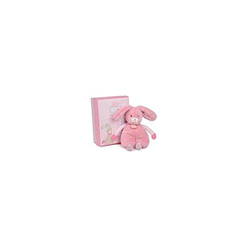 DOUDOU ET COMPAGNIE - Choupidoux Flat Plush Pink Bunny Puppet - DC2760