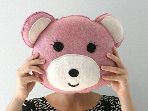 Cashmere Teddy Bear - Pink Teddy Bear Pillow