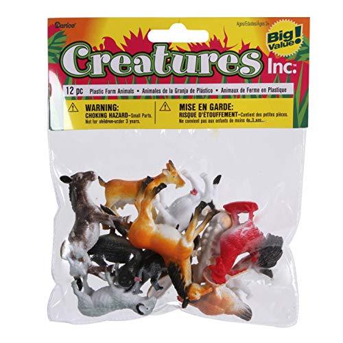 Darice Bulk Buy DIY Kids Plastic Farm Animals 2 inches 12 Pieces 3-Pack 1029-08