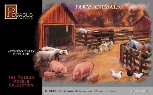 Farm Animals - 148 Plastic Kit by Pegasus Hobbies by Pegasus Hobbies