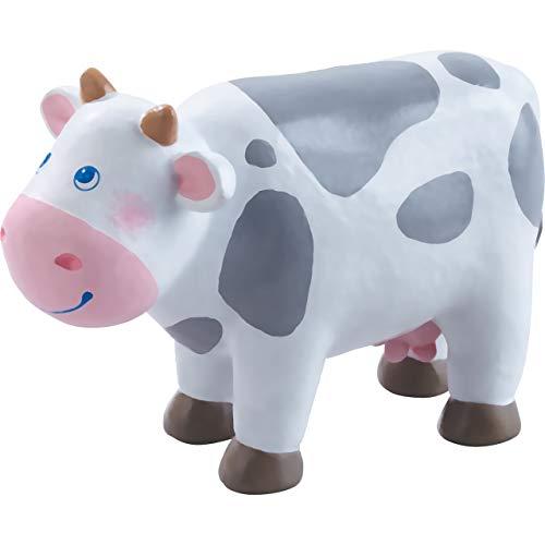 HABA Little Friends Cow - 4 Chunky Plastic Farm Animal Toy Figure