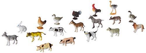 Click N Play Mini Farm Animal Figurine Playset Assorted Mini 60Piece Realistically Designed Farm Plastic Animals for Kids Toddlers
