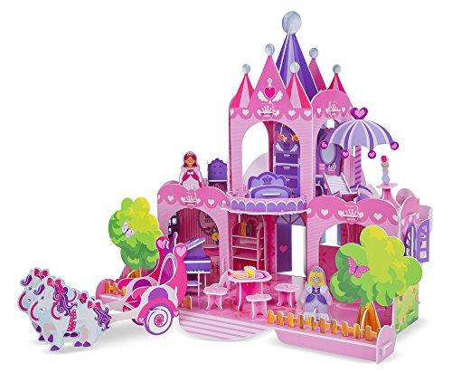 Melissa Doug Pink Palace 3-D Puzzle 15 x 1425 x 13 inches 100 pcs