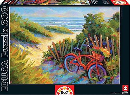 Educa Beach Scene with Fresh Flowers Puzzle 500-Piece