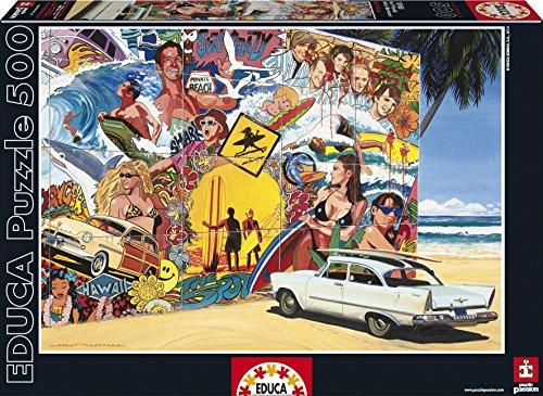 Educa Borras Surf Mural Alain Bertrand Puzzle 500 Piece One Color
