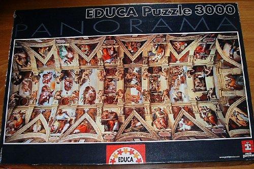 Sistine Chapel MA Buonarroti Educa Puzzle 3000 Panorama 12748 144 X 68 cm
