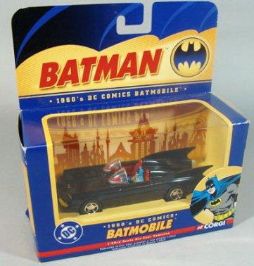 Corgi DC Comics 1960s Batmobile 143 Scale Detailed Diecast With Figure