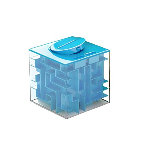 Lightthebo Money Maze Puzzle Box Blue