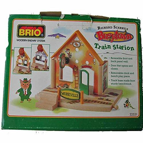 BRIO Wooden Railway System Richard Scarrys Busytown Train Station 32531