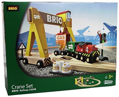 Brio Wooden Crane Train Set by Brio