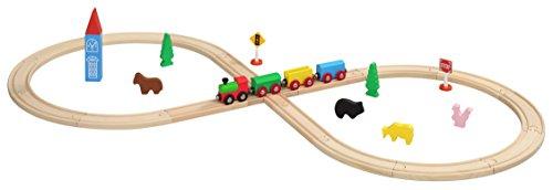 Maxim Enterprise Figure 8 Wooden Train Set - Thomas FriendsBRIO Compatible 32-Piece