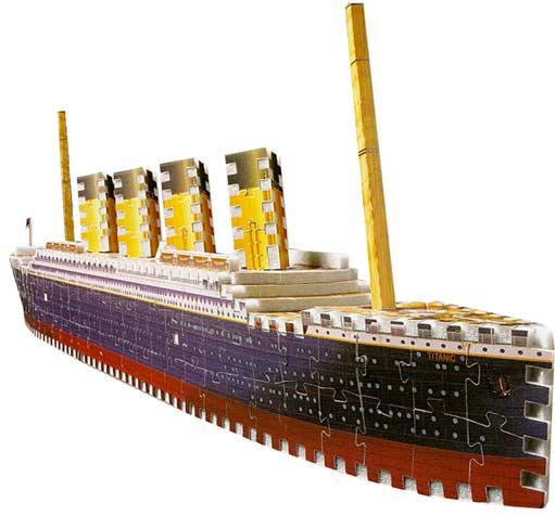 Titanic-398 Piece -Puzz 3d --Puzzle