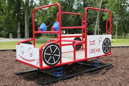 Spring Rider Ice Cream Truck Imaginative Children Funtime Outdoor Playground Equipment