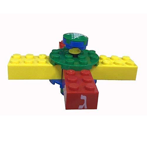 JewishInnovationscom Dreidel Spinner - 13 Piece Building Block Kids Play Set - Chanukah Hand Spinning Toy - DIY Craft Kids Adults 1