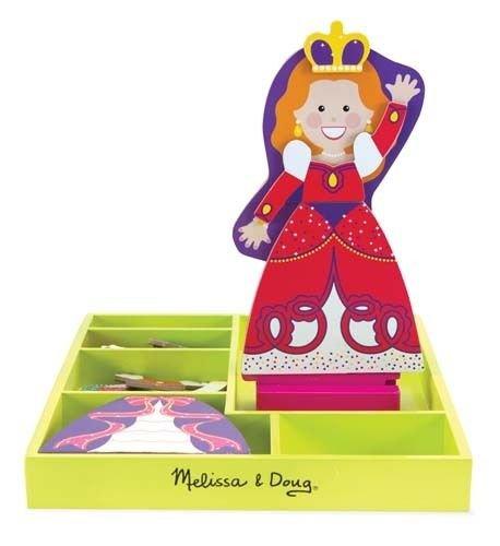 Qiyun Melissa Doug Princess Alyssa Magnetic Dress Up Set 5161 Childrens Play Set