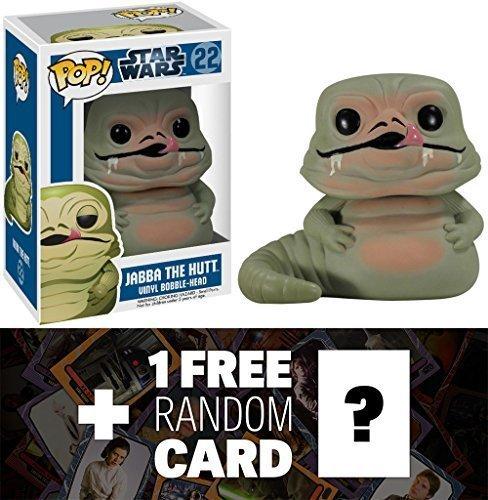 Jabba the Hutt Funko POP Star Wars Vinyl Bobble-Head Figure  1 FREE Official Star Wars Trading Card Bundle 25940