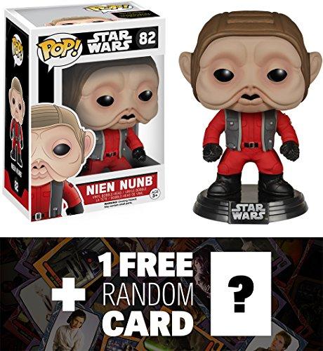 Nien Nunb Funko POP x Star Wars Vinyl Bobble-Head Figure w Stand  1 FREE Official Star Wars Trading Card Bundle 65867